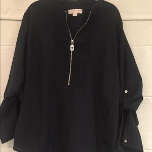 Black with silver hardware tunic